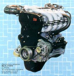 """Самый интересный  """"вазовский """" мотор - двухлитровый 16-клапанный ВАЗ-21203..."""